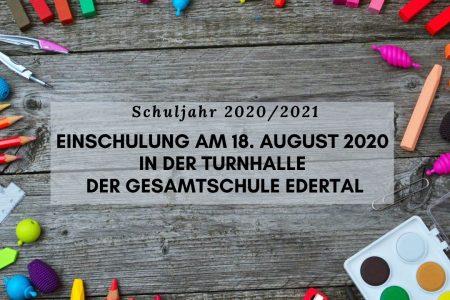 Einschulung am 18. August 2020 in der Turnhalle der Gesamtschule Edertal