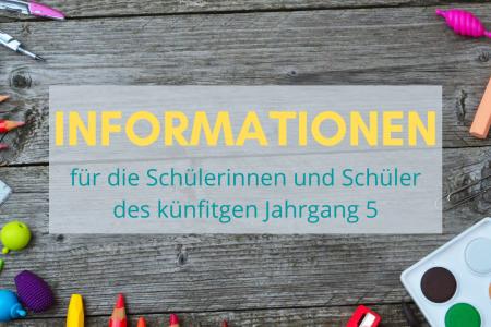 Informationen für die Lernenden und Eltern des zukünftigen Jahrgang 5
