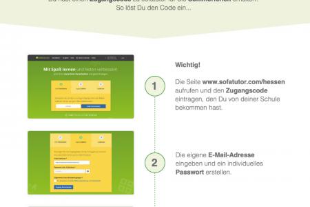 """Kostenloser Zugang zur Online-Plattform """"Sofatutor"""""""